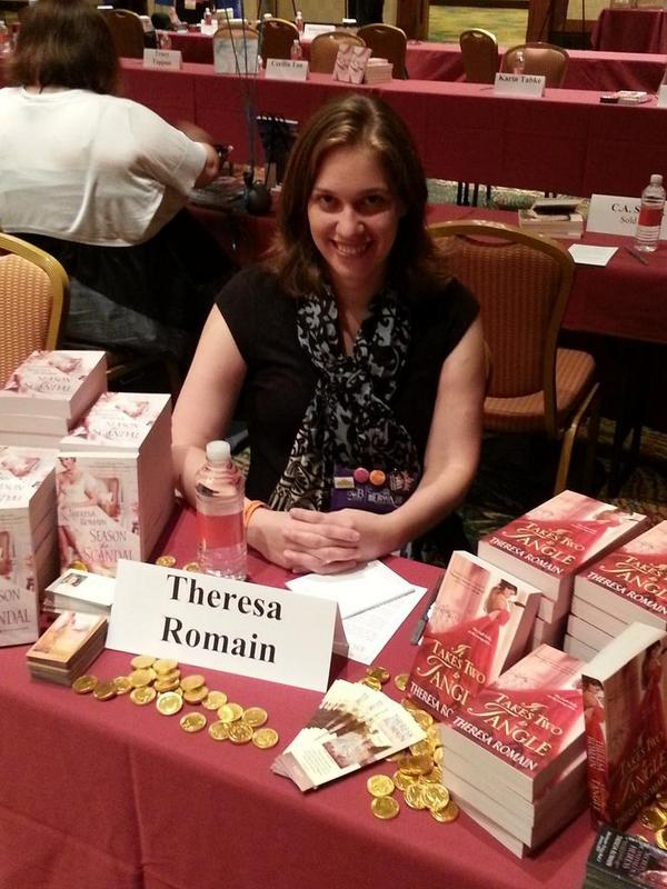 Theresa Romain at Literacy Autographing, San Antonio, TX, 2014